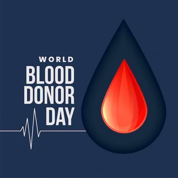 Wereld bloed donor dag concept achtergrond Gratis Vector