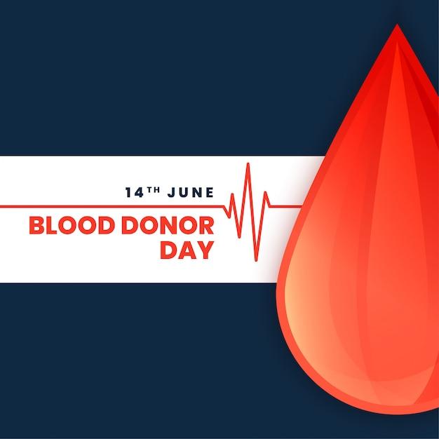 Wereld bloeddonor dag concept poster Gratis Vector