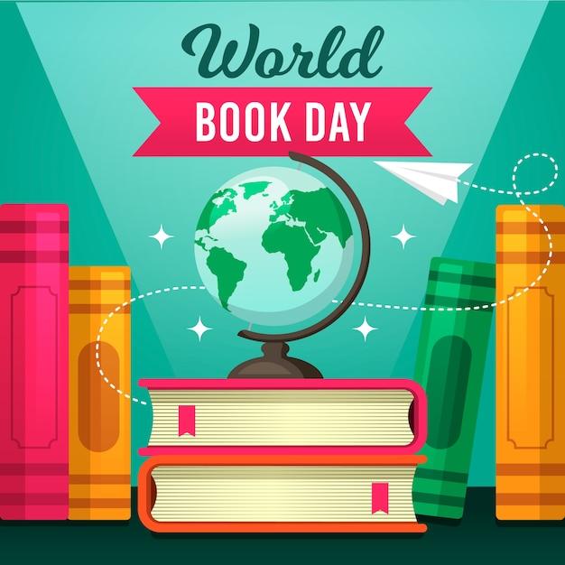 Wereld boek dag concept Gratis Vector
