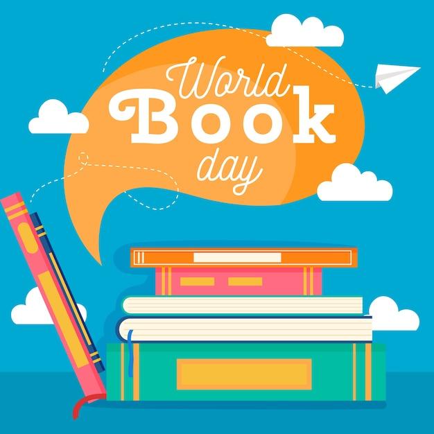 Wereld boek dag viering ontwerp Gratis Vector