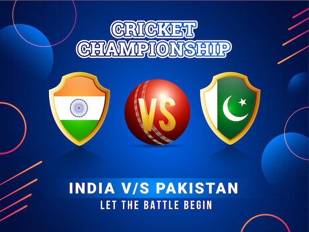 Wereld cricket league poster concept. Premium Vector