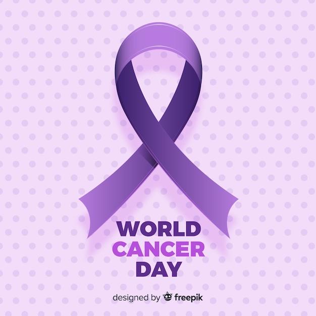 Wereld kankerdag achtergrond Gratis Vector