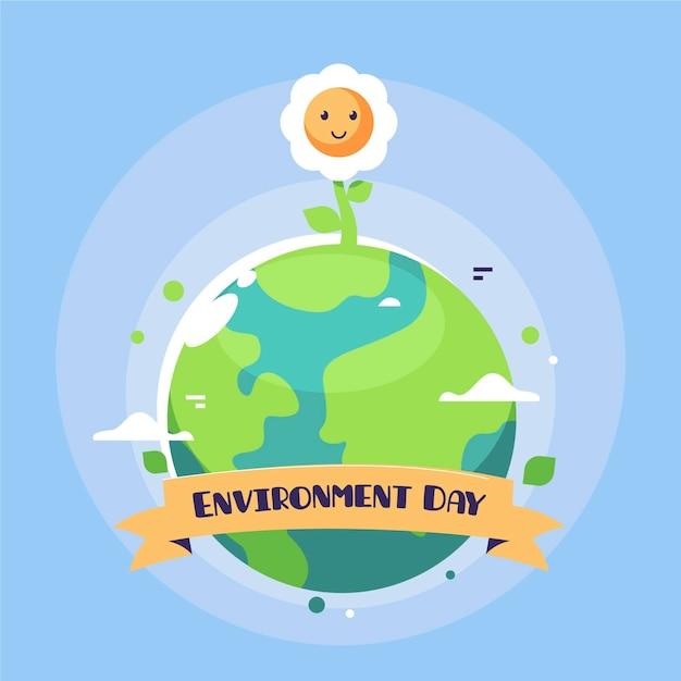 Wereld milieu dag ontwerp Gratis Vector