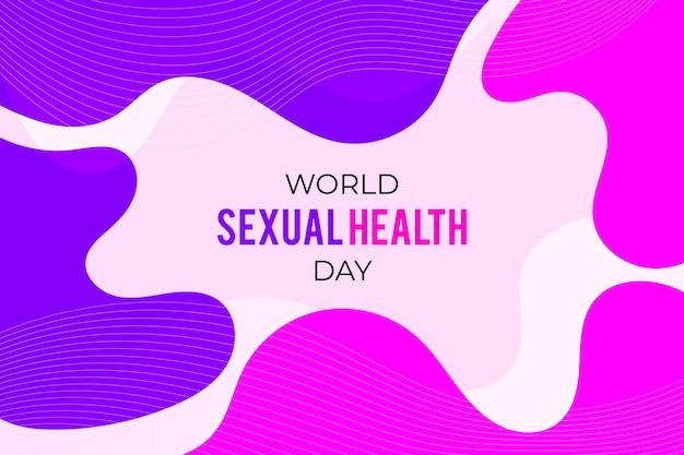 Wereld seksuele gezondheid dag abstracte achtergrond Gratis Vector