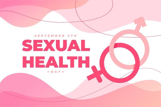 Wereld seksuele gezondheid dag achtergrond met geslachtsborden Gratis Vector