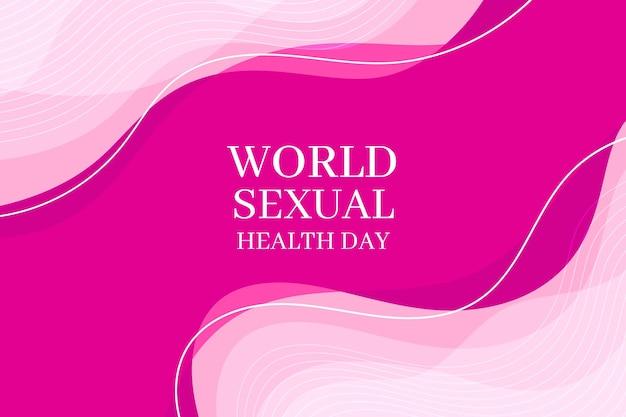 Wereld seksuele gezondheid dag achtergrond Gratis Vector