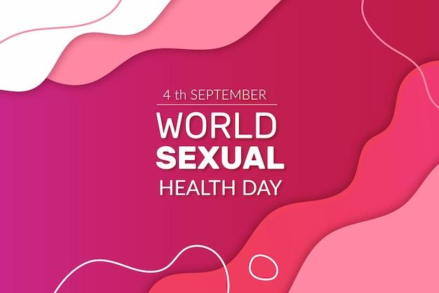 Wereld seksuele gezondheid dag vloeibare stijl Gratis Vector