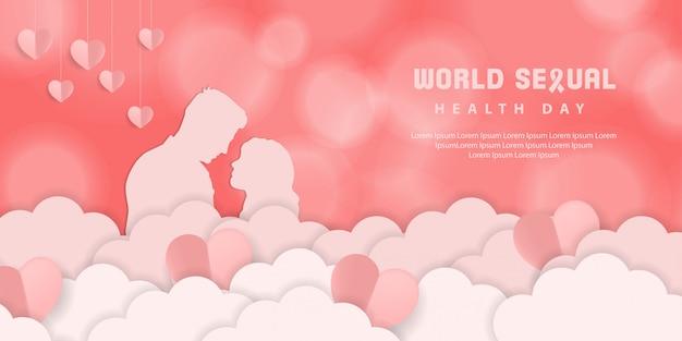 Wereld seksuele gezondheidsdag achtergrond Premium Vector