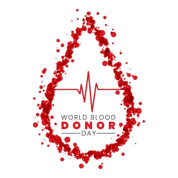 Wereldbloeddonordag Gratis Vector