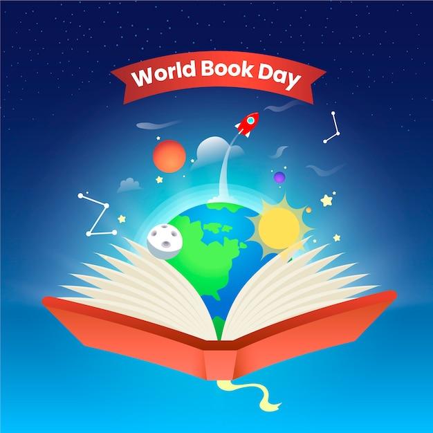 Wereldboekendag evenement Gratis Vector