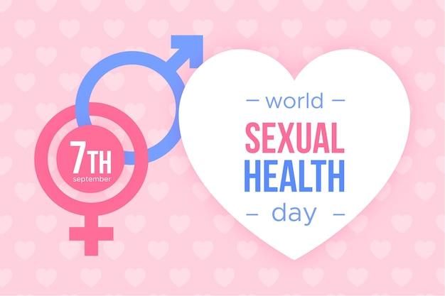 Werelddag voor seksuele gezondheid met geslachtsborden Premium Vector