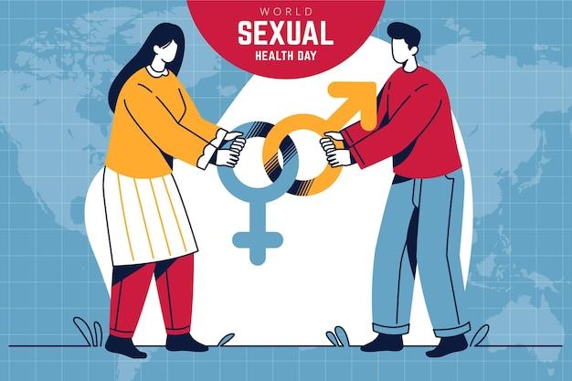 Werelddag voor seksuele gezondheid Gratis Vector