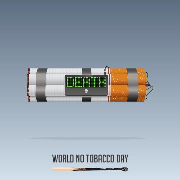 Werelddag zonder tabak, 31 mei poster voor niet-rokers. Premium Vector