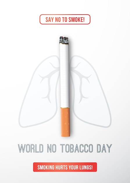 Werelddag zonder tabak. Premium Vector