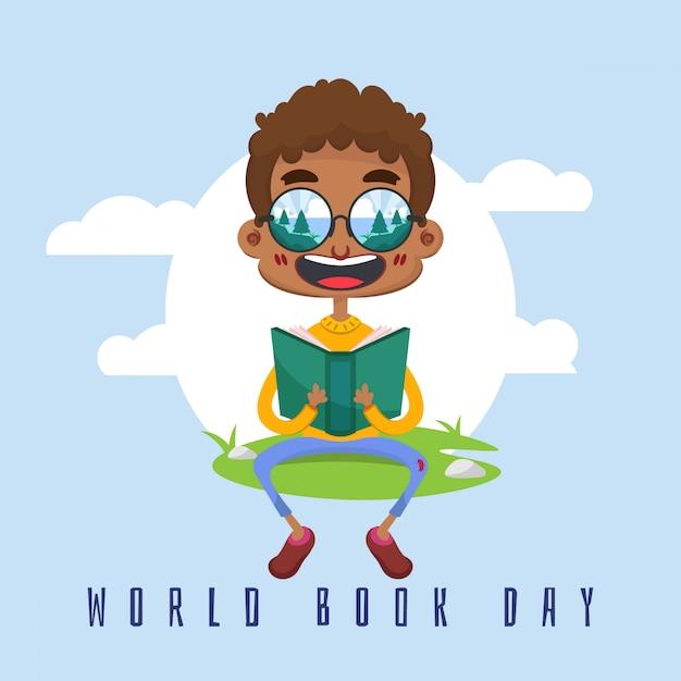 Werelddagboekachtergrond Premium Vector
