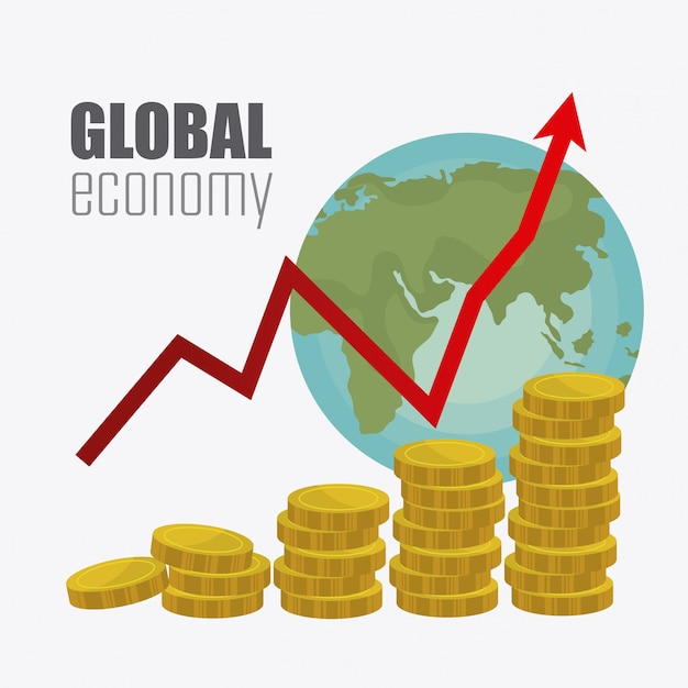 Wereldeconomie, geld en zaken Gratis Vector
