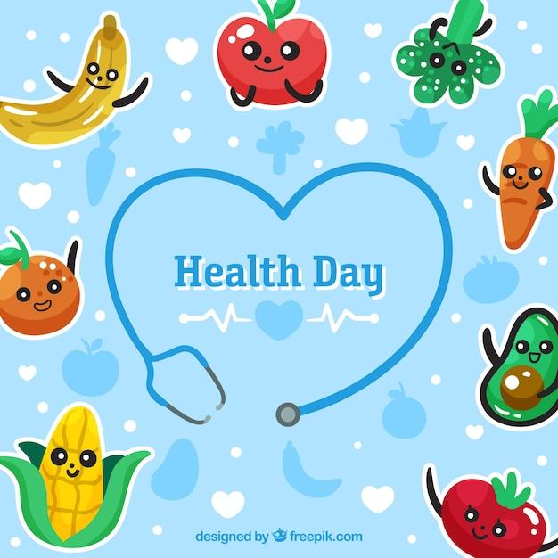 Wereldgezondheidsdag achtergrond Gratis Vector