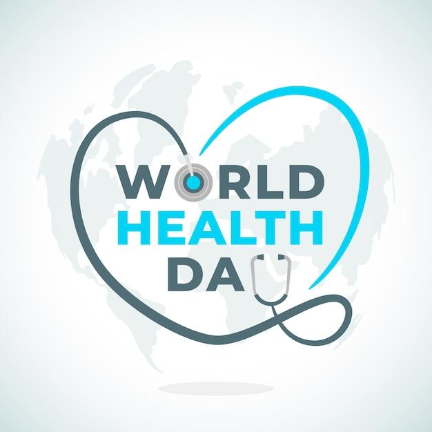 Wereldgezondheidsdag evenement concept Gratis Vector