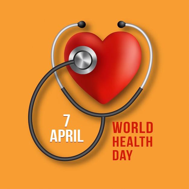 Wereldgezondheidsdag. vector geneeskunde illustratie Premium Vector