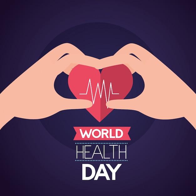 Wereldgezondheidsdag Gratis Vector