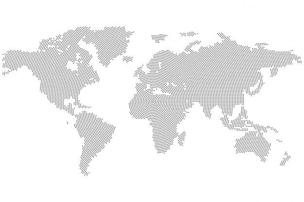 Wereldkaart achtergrond ontwerp Gratis Vector