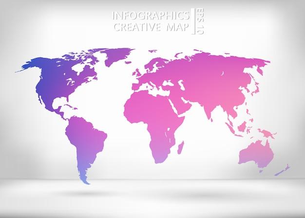 Wereldkaart illustratie. Premium Vector