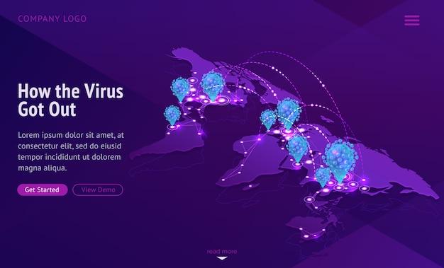 Wereldkaart met de verspreiding van besmettelijke ziekten Gratis Vector