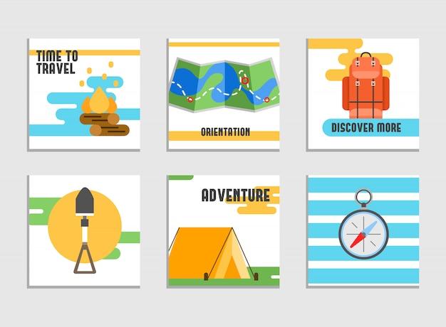 Wereldreis. zomervakanties plannen. zomervakantie. toerisme en vakantiethema. Gratis Vector