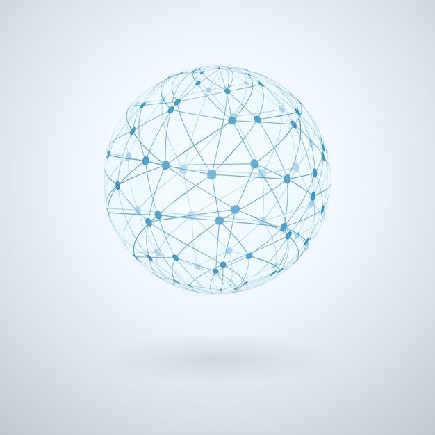 Wereldwijd netwerkpictogram Gratis Vector