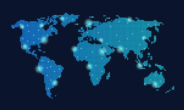 Wereldwijd technologienetwerk Gratis Vector