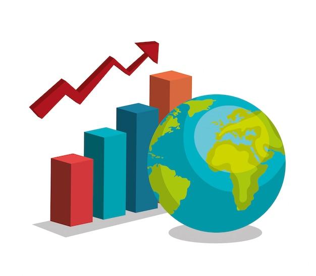 Wereldwijde groei Gratis Vector