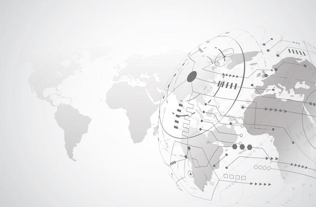 Wereldwijde netwerkverbinding Premium Vector
