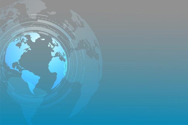 Wereldwijde technische achtergrond met tekst ruimte Gratis Vector