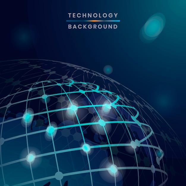 Wereldwijde technische achtergrond Gratis Vector