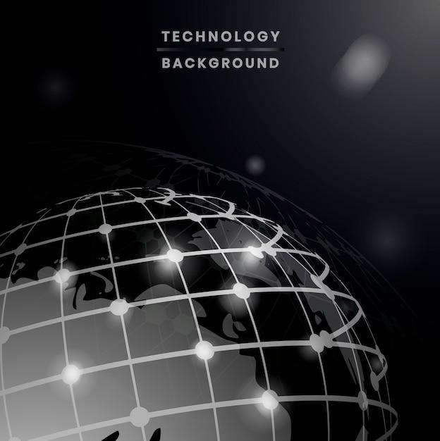 Wereldwijde verbindingen achtergrond Gratis Vector