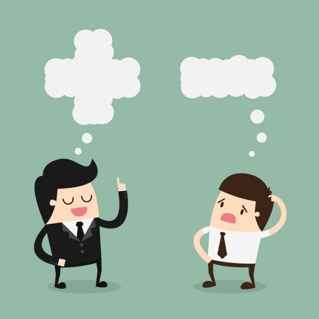 Werkgever en werknemer spreken Gratis Vector