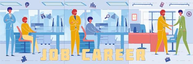 Werknemers en mensen uit het bedrijfsleven werken op kantoor Premium Vector