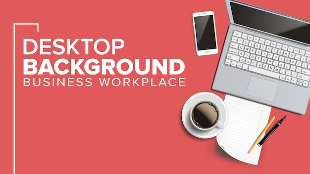 Werkplek desktop Premium Vector