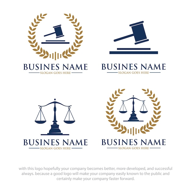 Wet logo ontwerpen Premium Vector