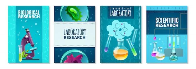 Wetenschap cover set Gratis Vector