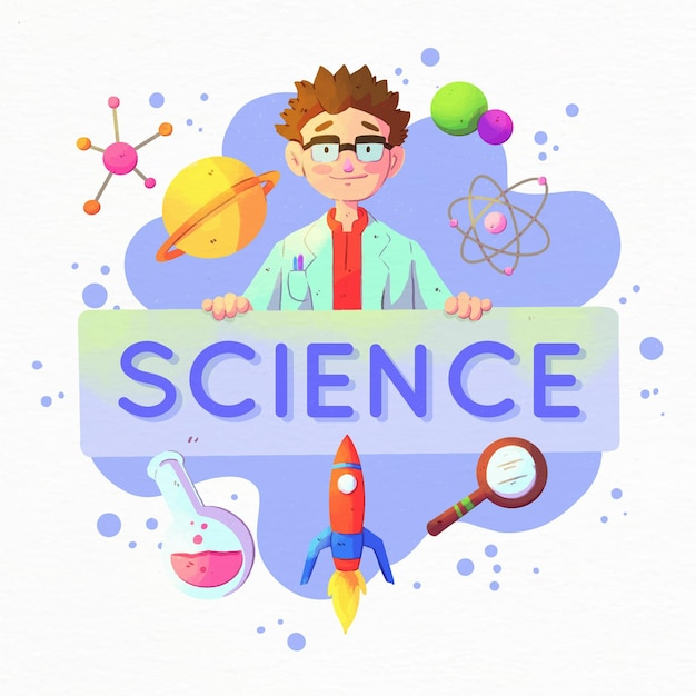 Wetenschap woord concept Premium Vector