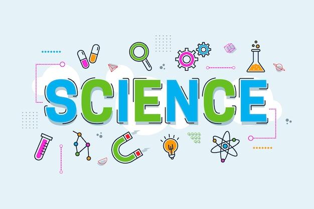 Wetenschap woord concept Gratis Vector