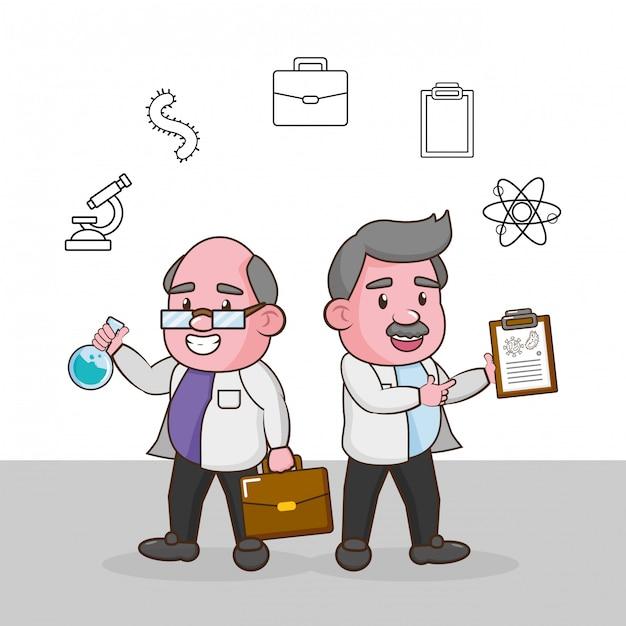Wetenschappelijke laboratoriumwetenschap Gratis Vector