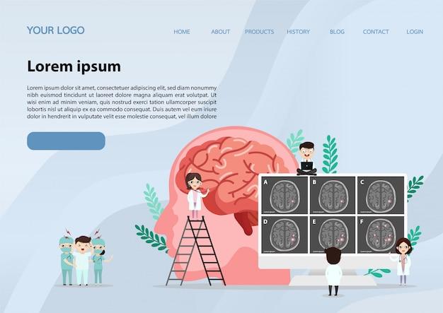 Wetenschappelijke medische illustratie van menselijke hersenslagillustratie Premium Vector