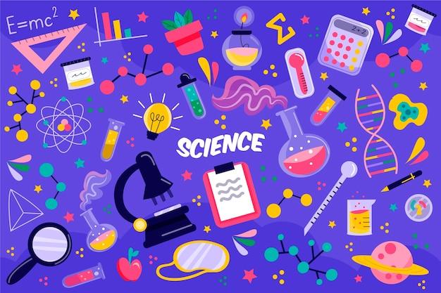 Wetenschapsonderwijs achtergrond Gratis Vector