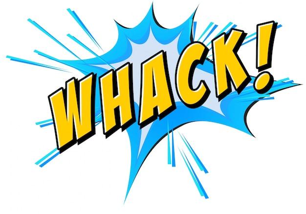 Whack flash op wit Gratis Vector