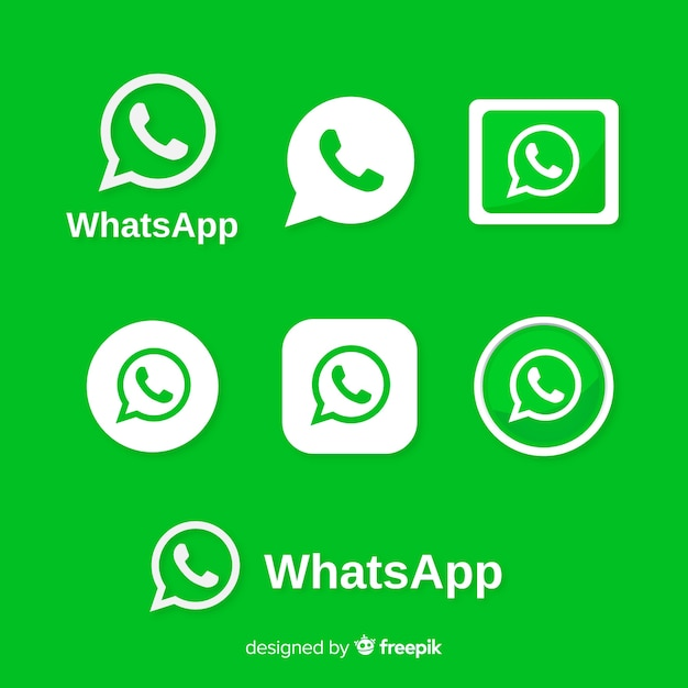 Whatsapp icon collection Gratis Vector