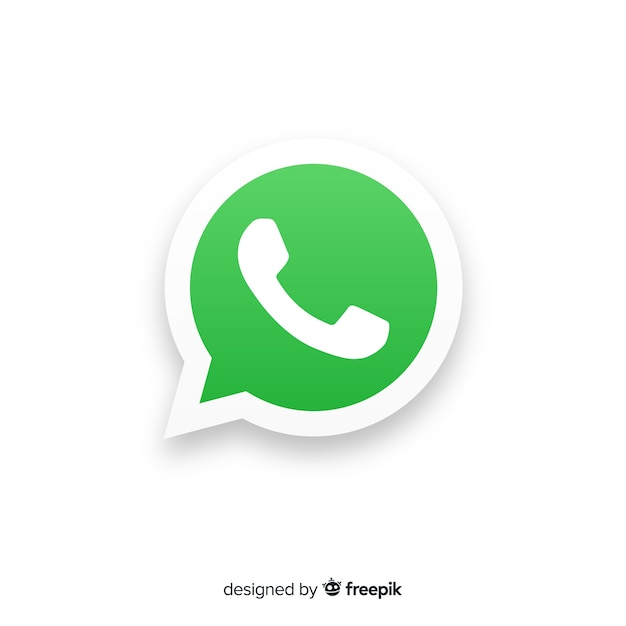 Whatsapp pictogram concept Gratis Vector