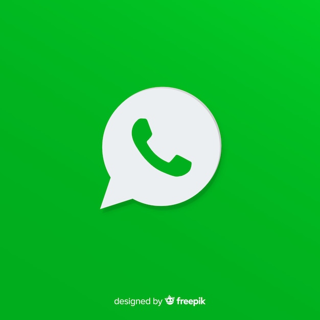 Whatsapp-pictogramontwerp Gratis Vector