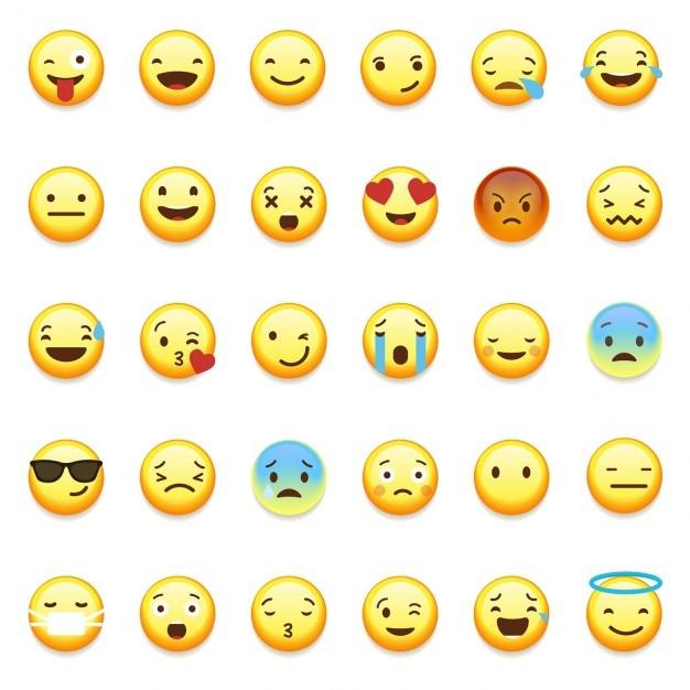 Whatsapp smiley emoticons Gratis Vector